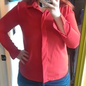 Cherry Red Button Down